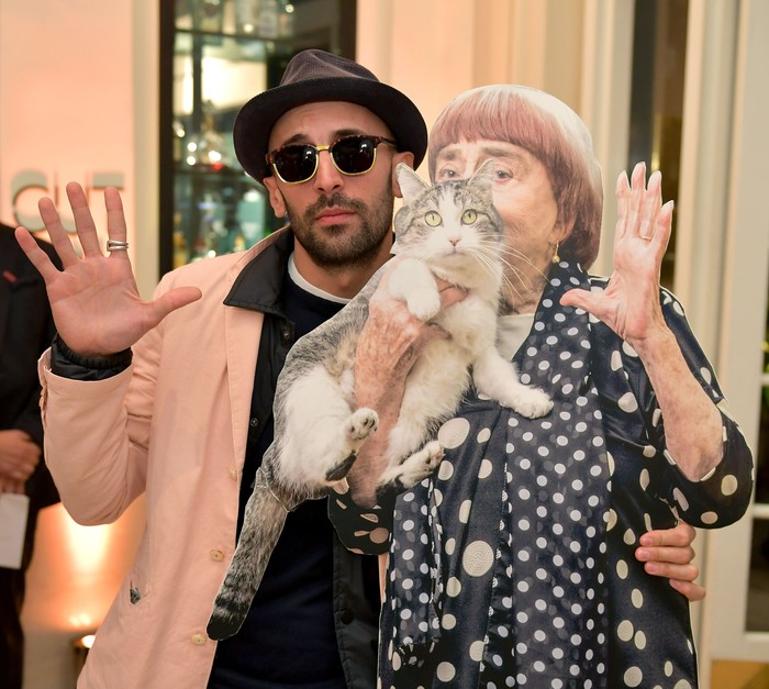 Agnes Varda dan JR masuk dalam nominasi Oscar untuk Best Documentary dengan film Faces Place. Neilson Barnard/Getty Images for THR.