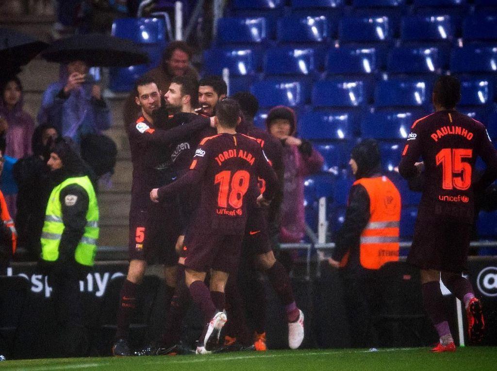 Pique Terancam Hukuman Gara-Gara Perayaan Golnya ke Gawang Espanyol