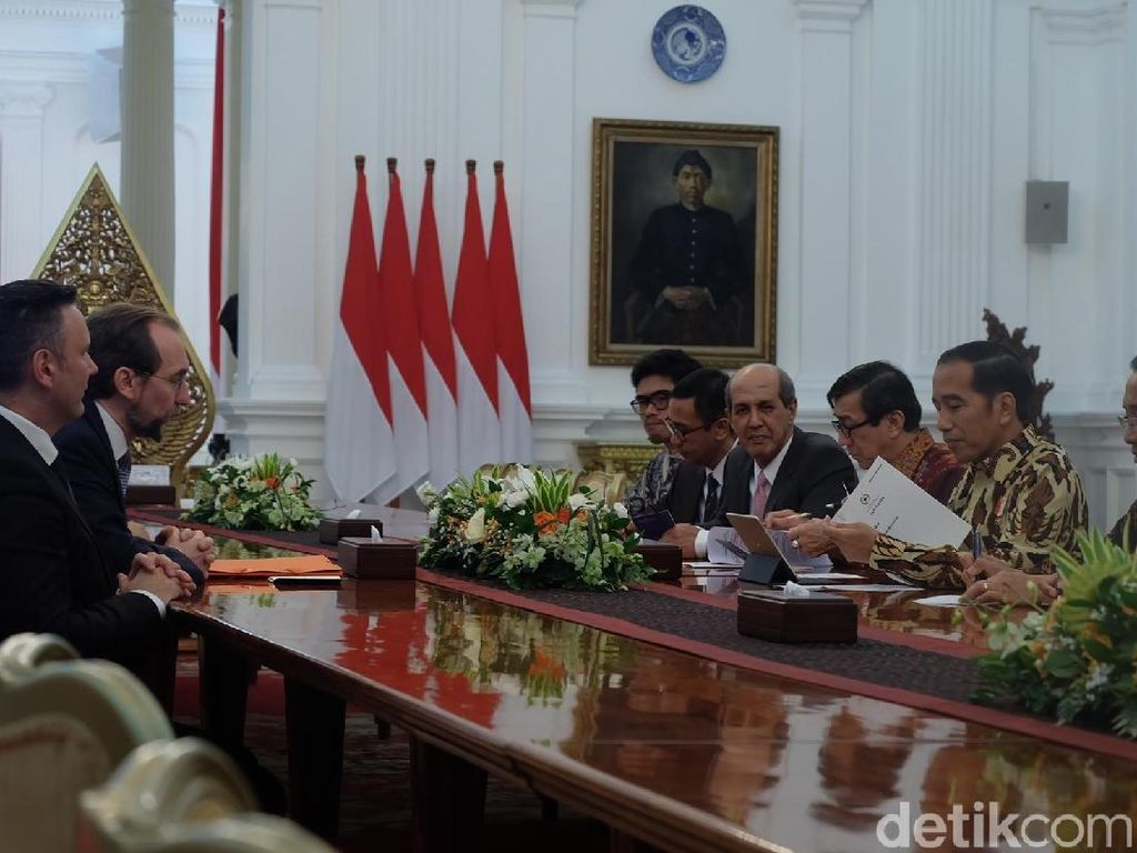 Komisaris HAM PBB Temui Presiden Jokowi di Istana