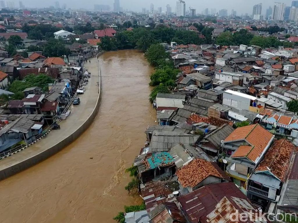 Penampakan Banjir di Kebon Pala Dilihat dari Udara