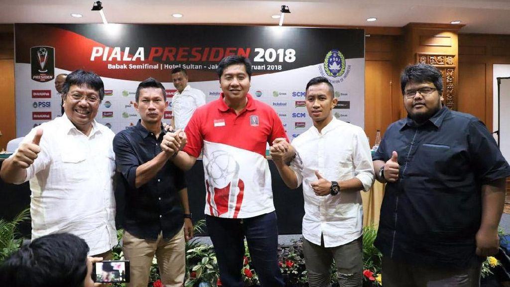 Rembukan Jelang Semifinal Piala Presiden 2018