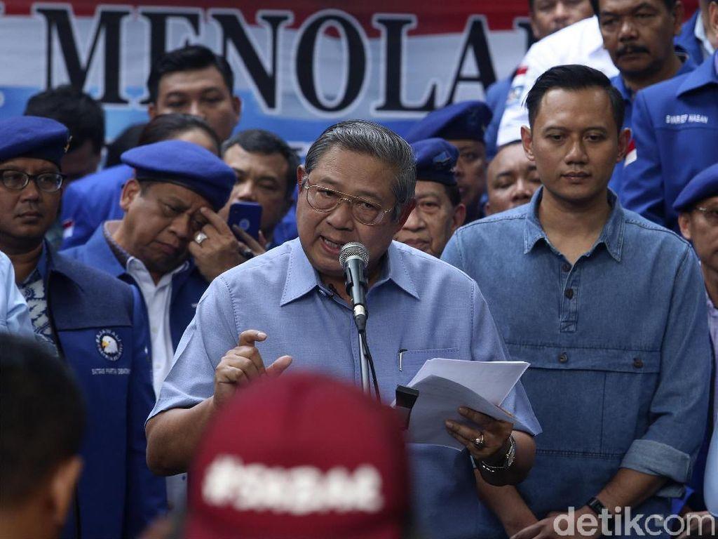 Ekspresi SBY Saat Pidato Tepis Tuduhan Terkait e-KTP