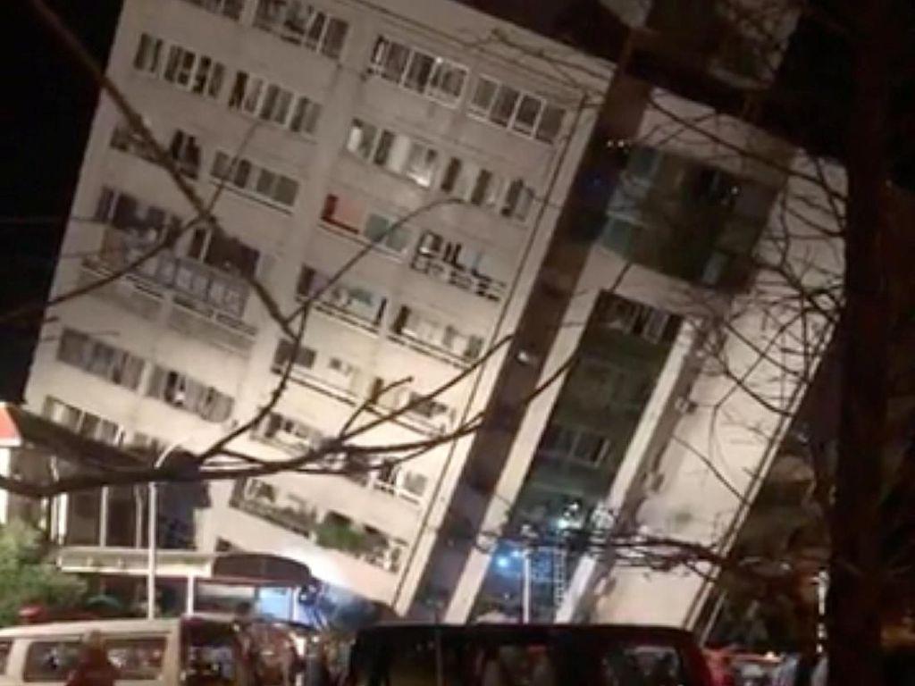 149 Orang Hilang Usai Gempa 6,4 SR di Taiwan