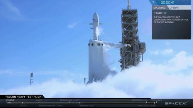 SpaceX Berhasil Luncurkan Roket Berkekuatan Super