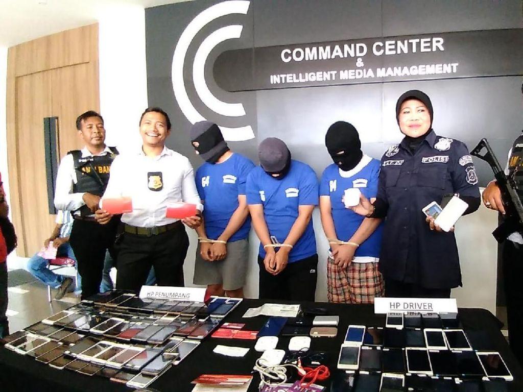 Polisi Amankan 3 Driver Tuyul, Raup Jutaan Rupiah Per Hari