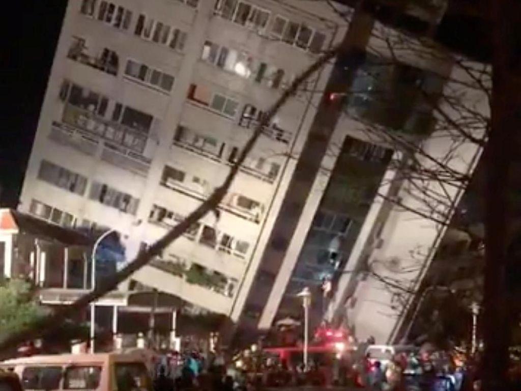 Video Momen Mencekam Pasca Gempa Taiwan