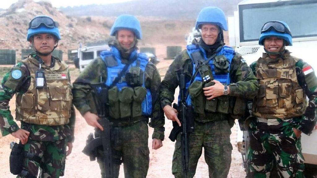 Pasukan Garuda Indobatt Latihan Bersama Tentara Asing Dari Berbagai Negara