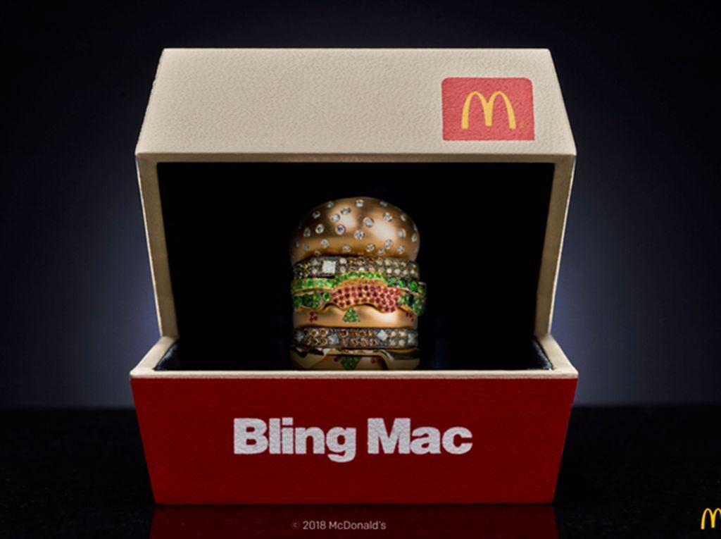 McDonalds Tawarkan Hadiah Cincin Bling Mac Bentuk Burger Seharga Rp 163 Juta