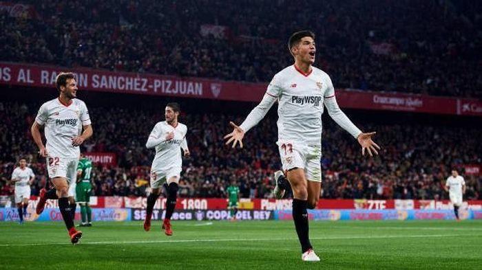 Para pemain Sevilla di Copa del Rey. (Foto: Aitor Alcalde/Getty Images)