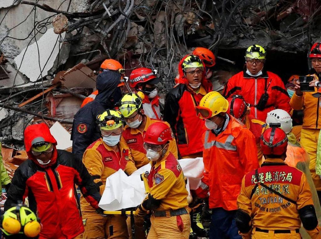 Korban Tewas Gempa Taiwan Terus Bertambah