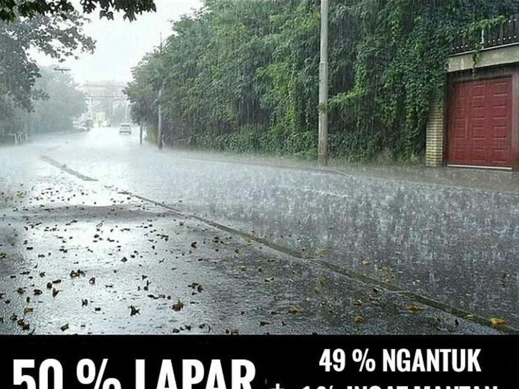 Kumpulan Meme Ini Jadi Bukti Musim Hujan Bikin Sendu