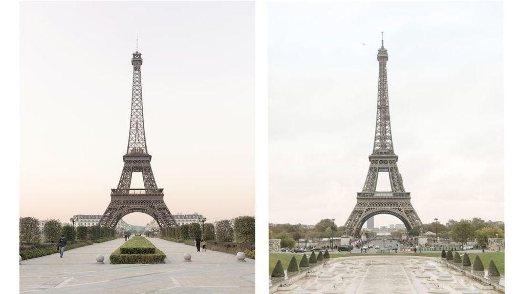 Bisa Bedakan Mana Menara Eiffel di Prancis dan di China?