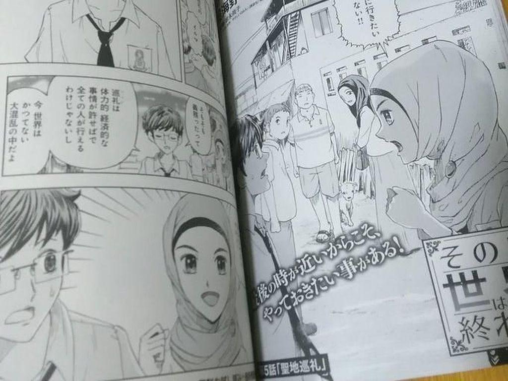 Viral, Ada Wanita Berhijab Indonesia di Komik Jepang