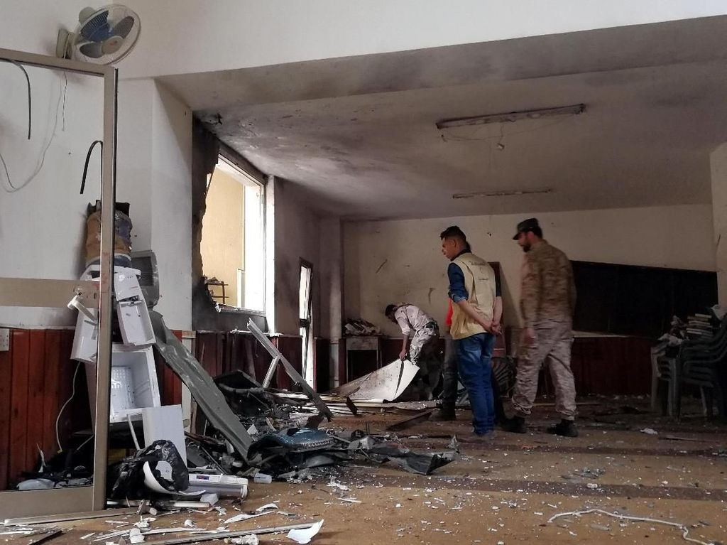 Foto: Kerusakan Masjid di Benghazi Libya yang Dibom Usai Salat Jumat