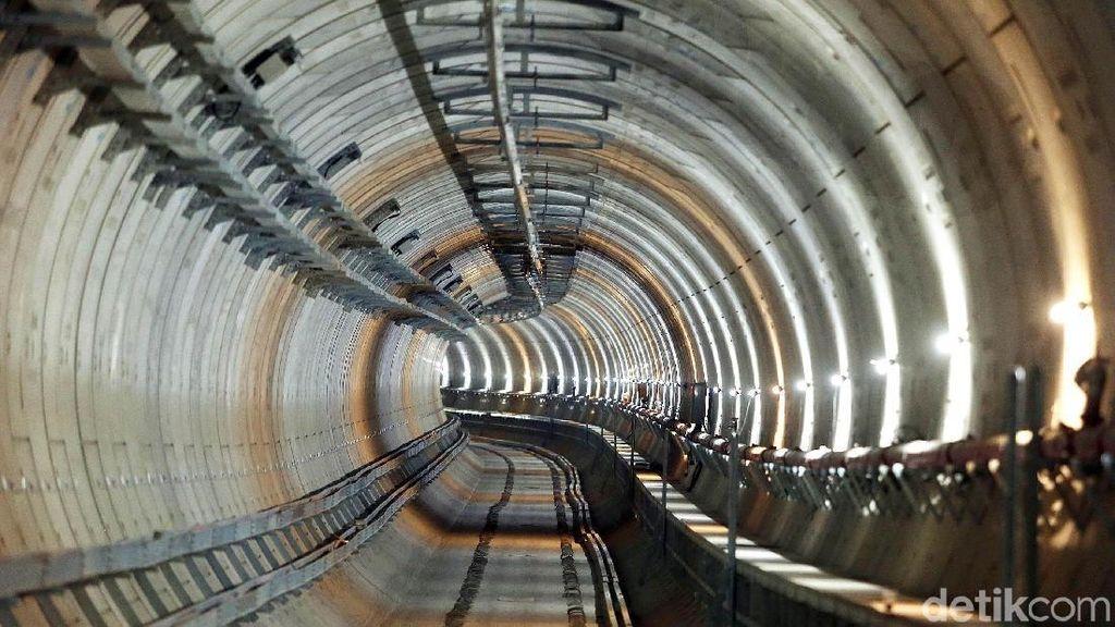 Foto: Megahnya Terowongan MRT Jakarta yang Bisa Bertahan 100 Tahun
