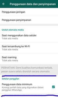 Menghemat Kuota Saat  Menggunakan WhatsApp