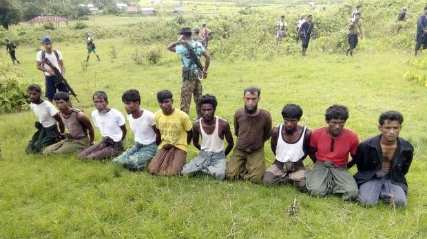 Warga Rohingya menjadia korban pembantaian pemerintah Myanmar.