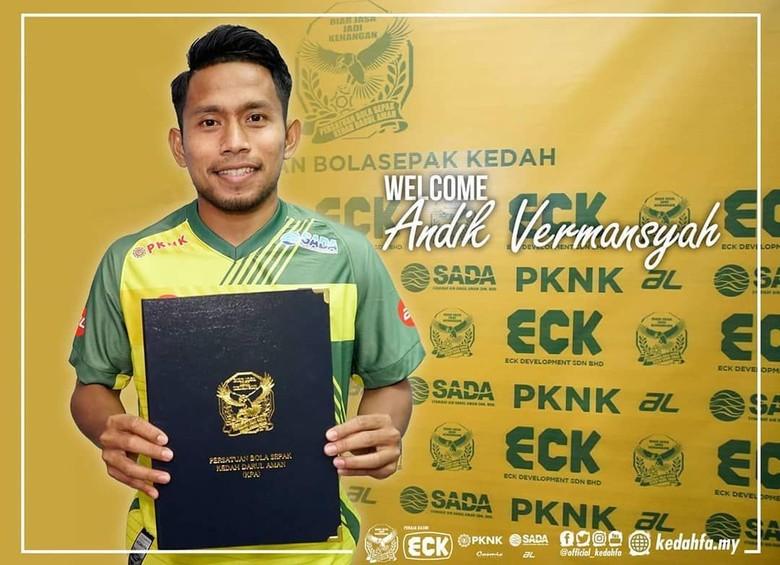 Resmi! Andik Vermansah Gabung Kedah FA