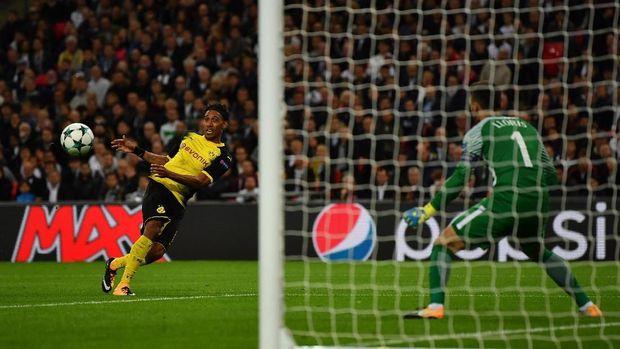 Aubameyang Sudah Akrab dengan Gawang Spurs