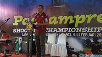 Wakil Komandan Paspampres Brigjen TNI Maruli Simanjuntak memberi sambutan