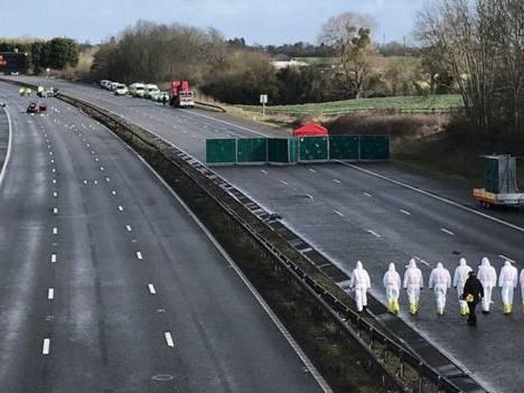 Tabrakan Beruntun di Inggris, 1 Tewas dan 10 Orang Terluka