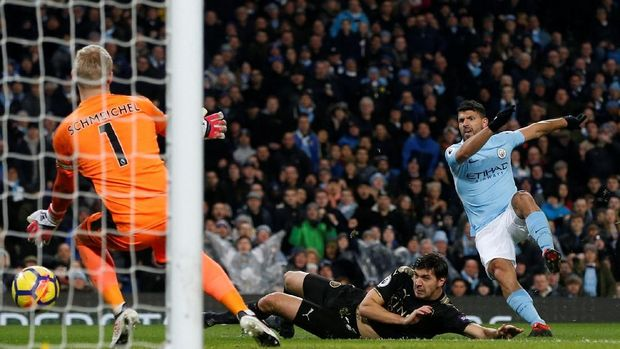 Aguero Empat Gol, City Bantai Leicester 5-1