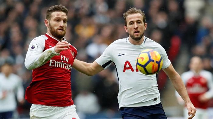 Arsenal tunduk 0-1 ketika menyambangi markas Spurs di Wembley. Satu-satunya gol dalam pertandingan ini dicetak oleh Kane di menit ke-49. (Foto: David Klein/REUTERS)