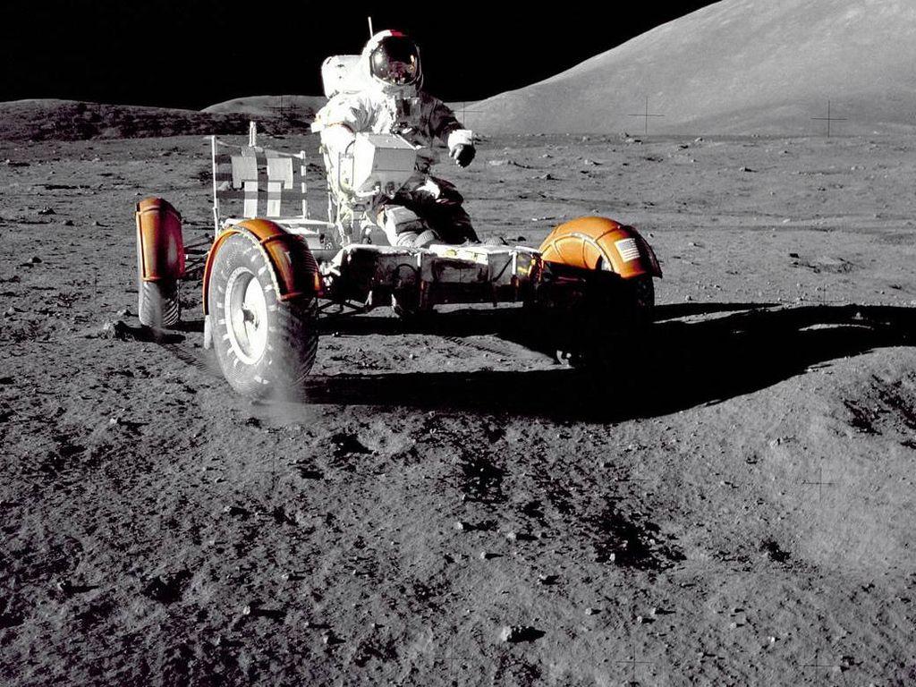 Penampakan Para Manusia Terakhir yang Mendarat di Bulan
