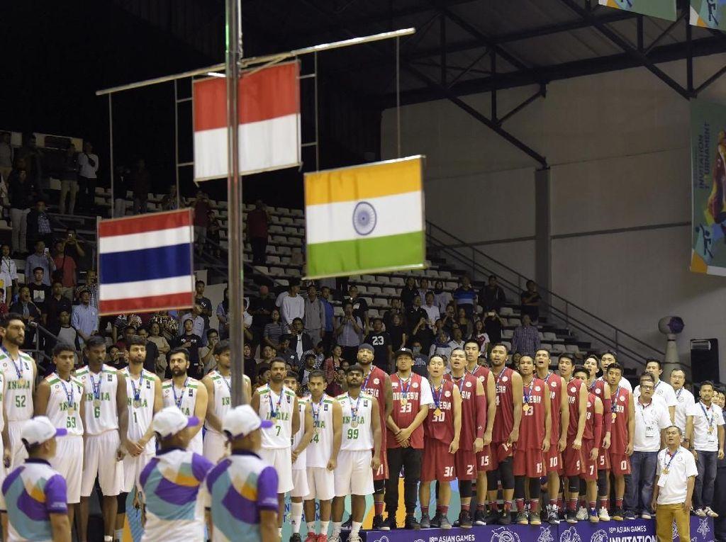 Tim Basket Indonesia Raih Emas Usai Kalahkan India