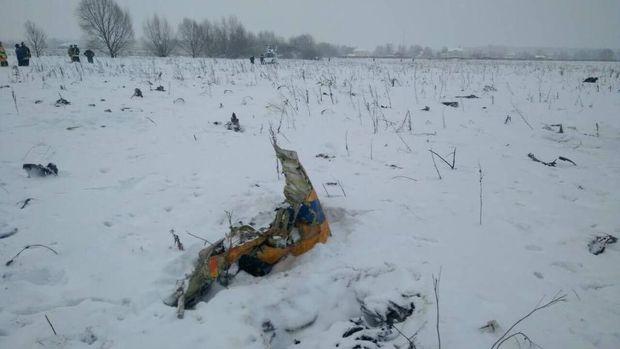 Kecelakaan Pesawat di Rusia, 71 Orang Dipastikan Tewas
