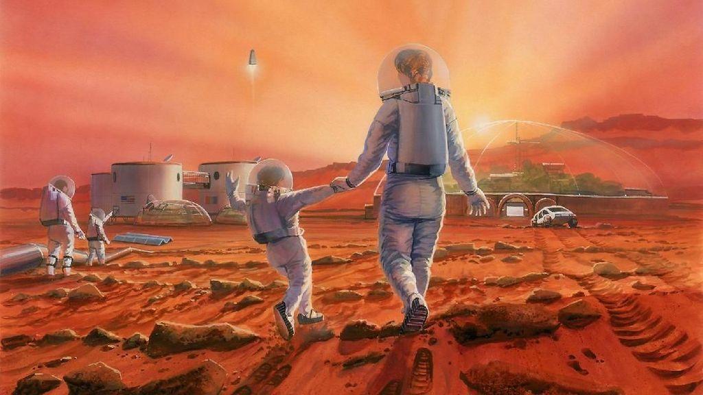Gambaran Pemukiman Manusia di Mars yang Memukau