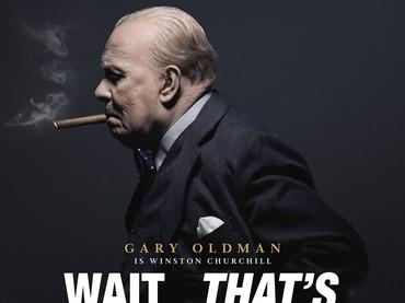 Poster Darkest Hour diubah menjadi bagaimana publik terkejut dengan penampilan Gary Oldman. (Dok. Schiznit)