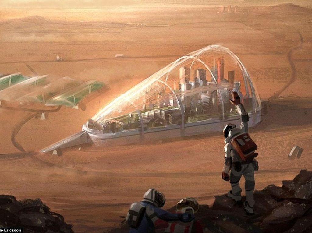 Elon Musk: Kehidupan di Mars Akan Dimulai di Kubah Kaca