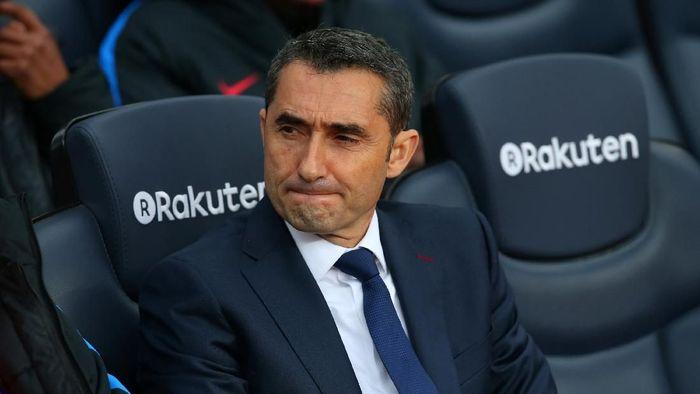 Ernesto Valverde ragu akan menambah opsi setahun di kontraknya. (Foto: Albert Gea/Reuters)