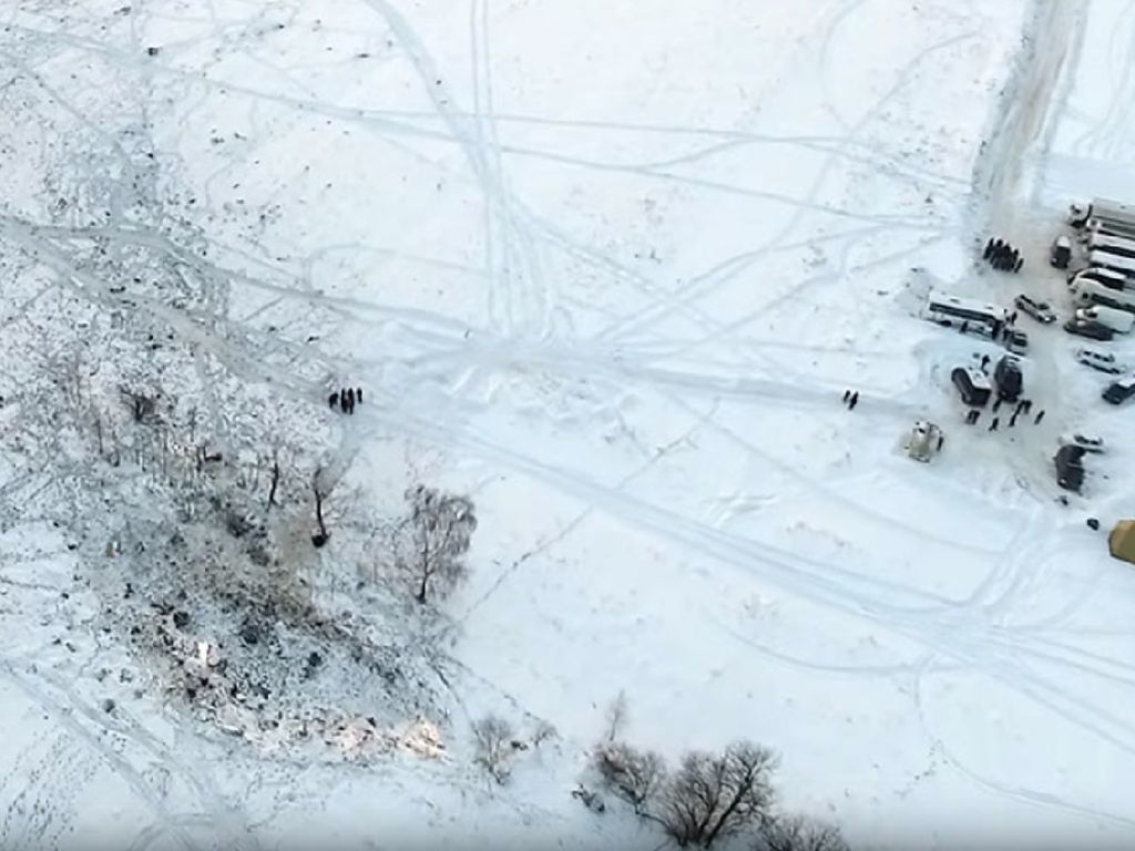 Penampakan dari Udara Lokasi Jatuhnya Pesawat Rusia