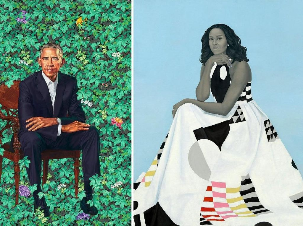 Lukisan Michelle dan Barack Obama Diboyong Tur Keliling