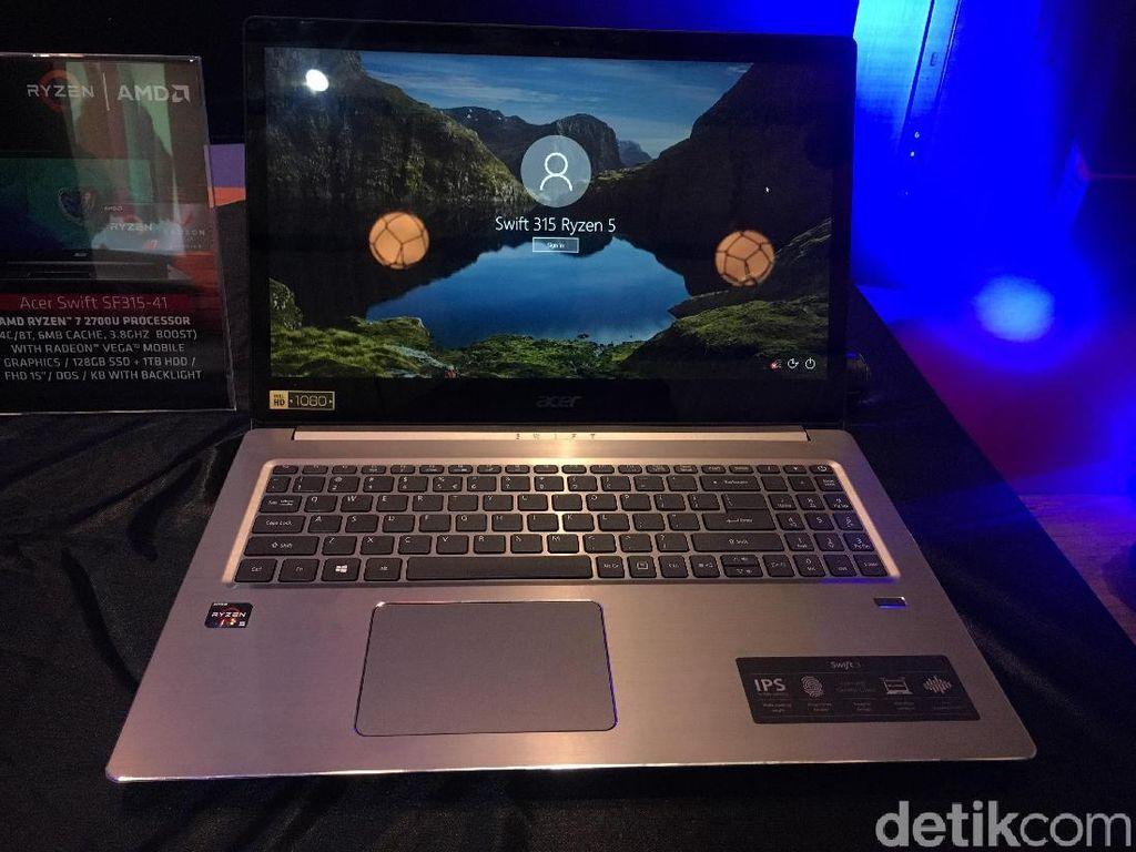 Penampakan Swift 3, Notebook Acer Berkekuatan Ryzen