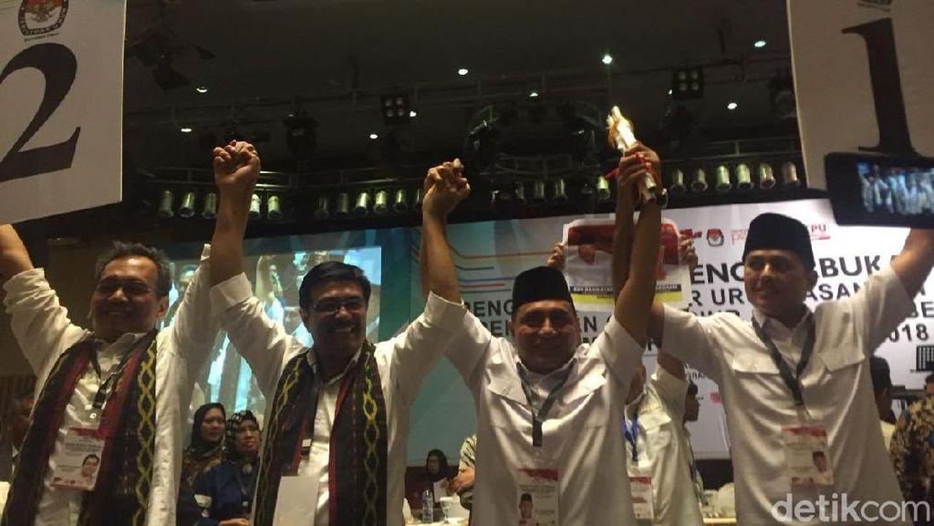 Survei Indo Barometer: Djarot-Sihar 37,0% Vs Edy-Ijeck 36,1 %