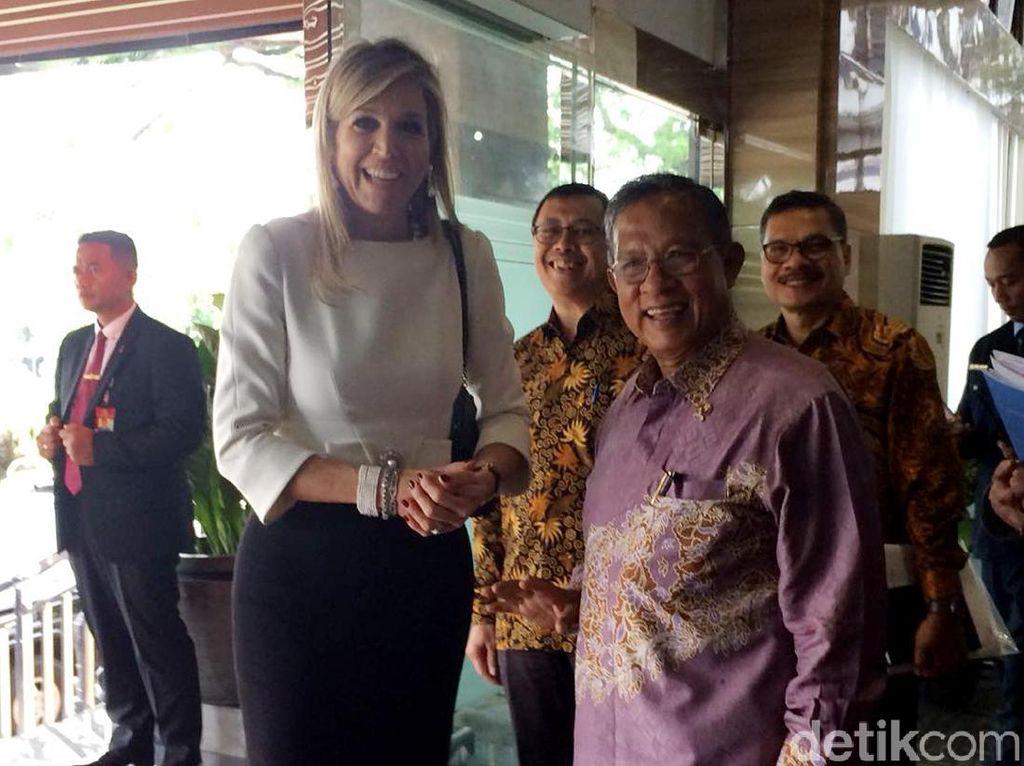 Kunjungi Kantor Darmin, Ratu Maxima Bahas Inklusi Keuangan