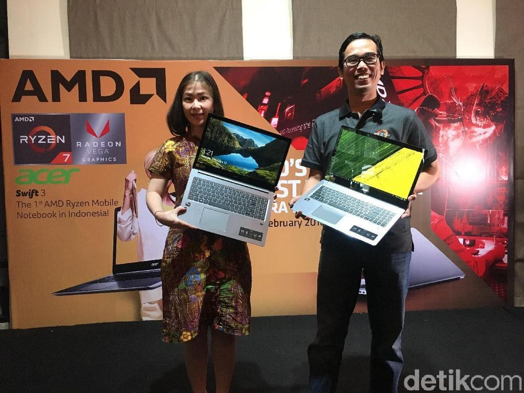 Acer Swift 3, Notebook Pertama Usung AMD Ryzen Mobile
