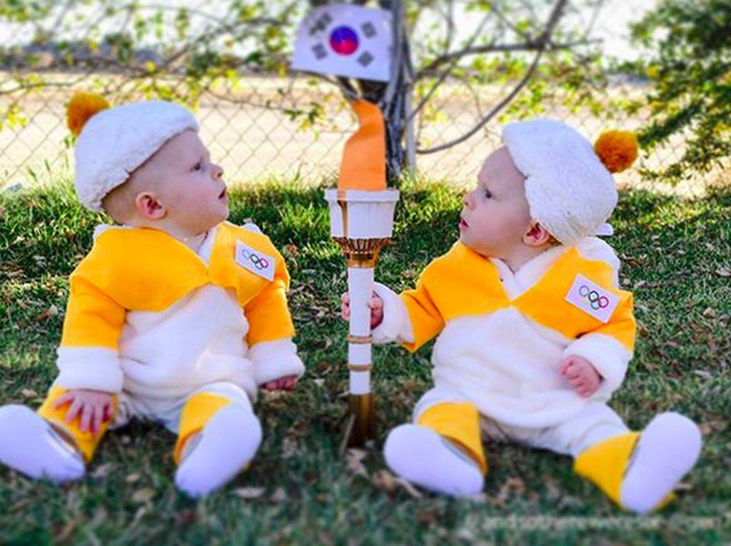 Begini Jadinya Saat Bayi Kembar Ikut Olimpiade Musim Dingin