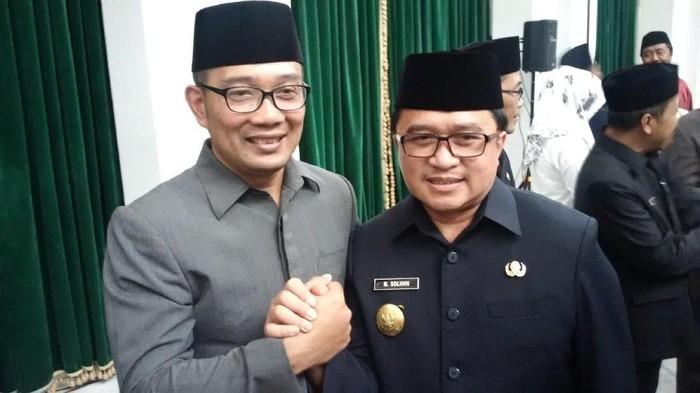Ridwan Kamil dan Pjs Wali Kota Bandung M Solihin
