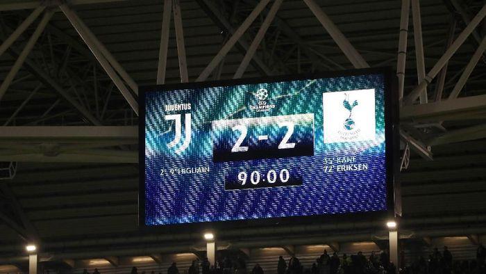 Juventus diimbangi Spurs walaupun sempat unggul dua gol (Foto: Paul Childs/Action Images via Reuters)