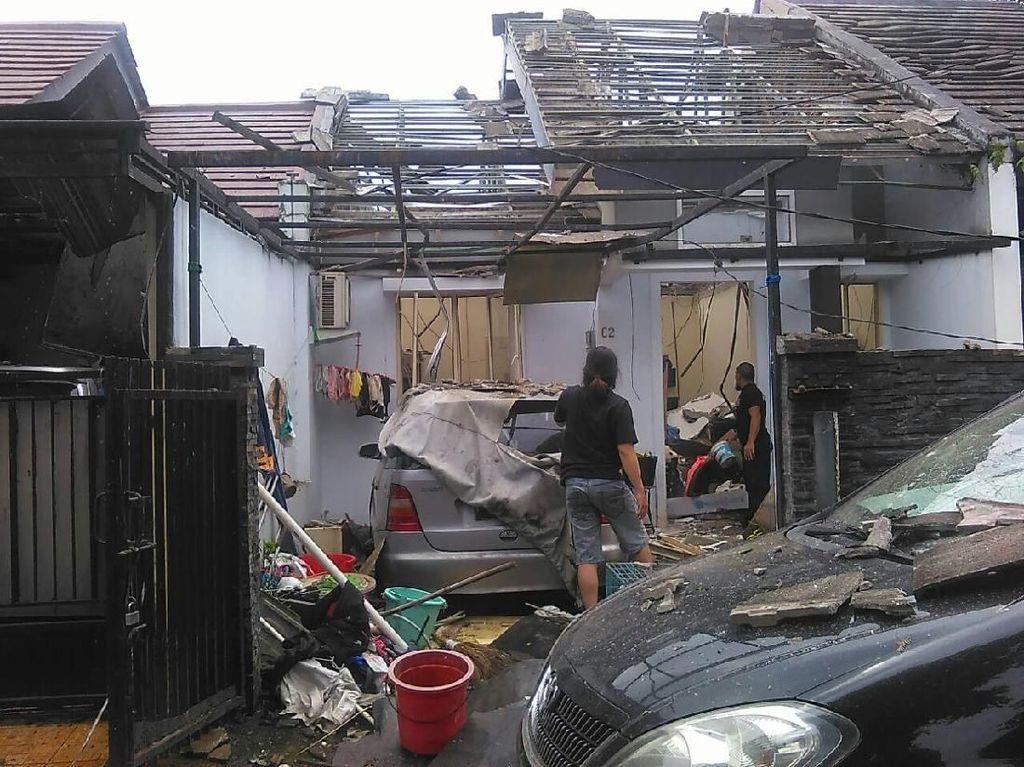 Foto: Begini Dampak Ledakan yang Rusak Rumah di Tanah Sareal Bogor