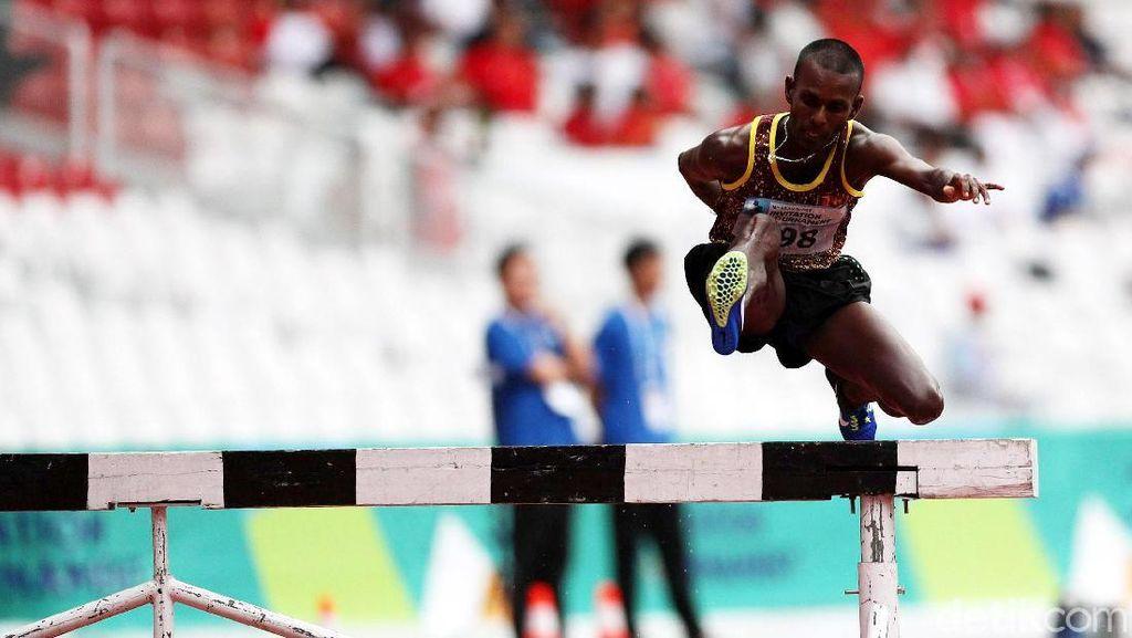Pelari Sri Lanka Juarai 3.000 Meter Halang Rintang