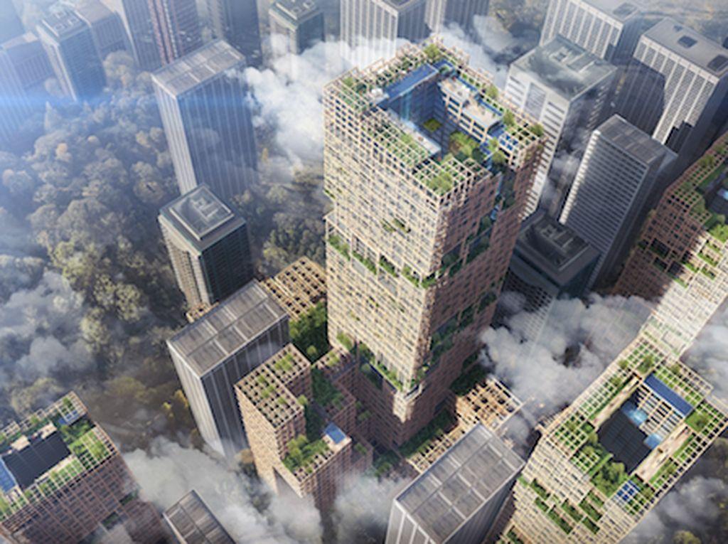 Jepang Akan Bangun Gedung Pencakar Langit Tertinggi dari Kayu