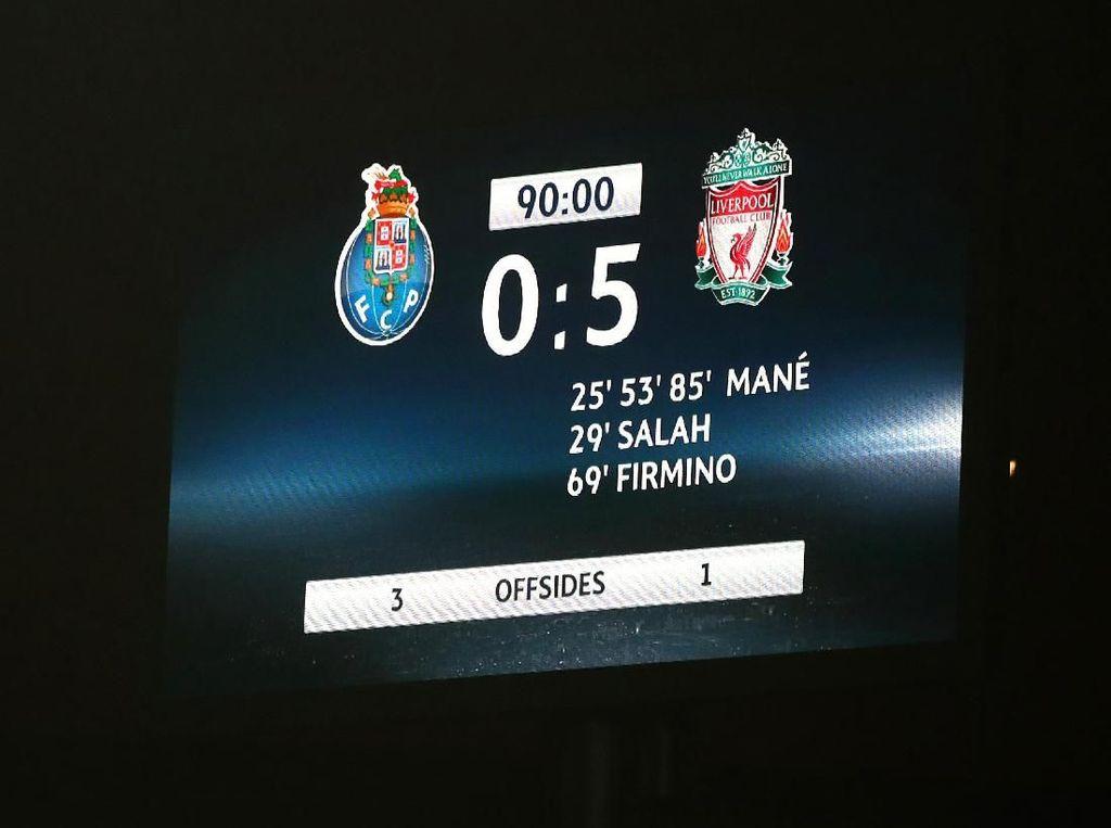 Foto: Pesta Gol Liverpool di Kandang Porto