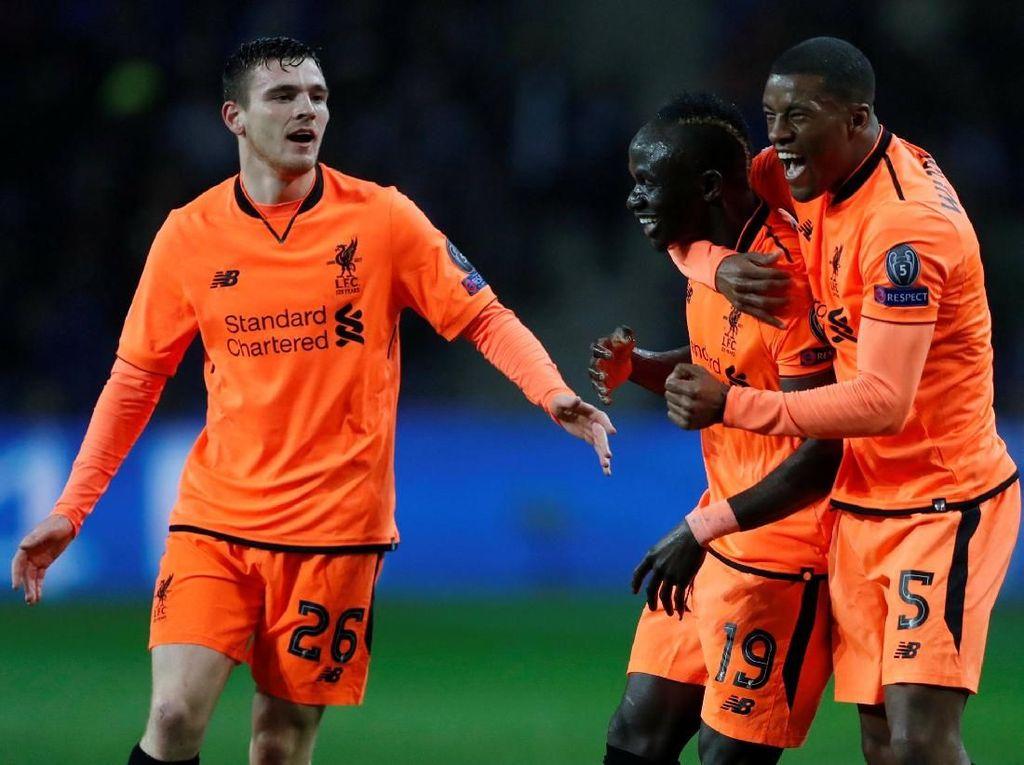 Mane Hat-trick, Liverpool Cukur Porto 5-0