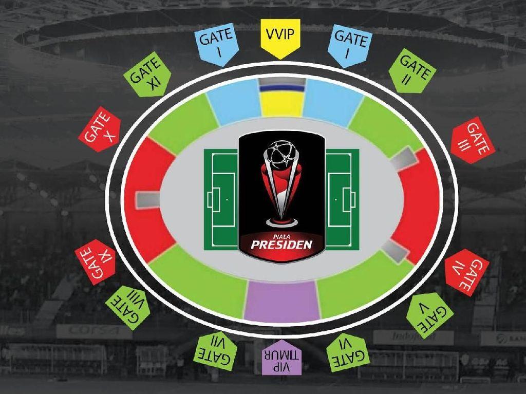 Harga Tiket Termurah Final Piala Presiden: Rp 75 ribu