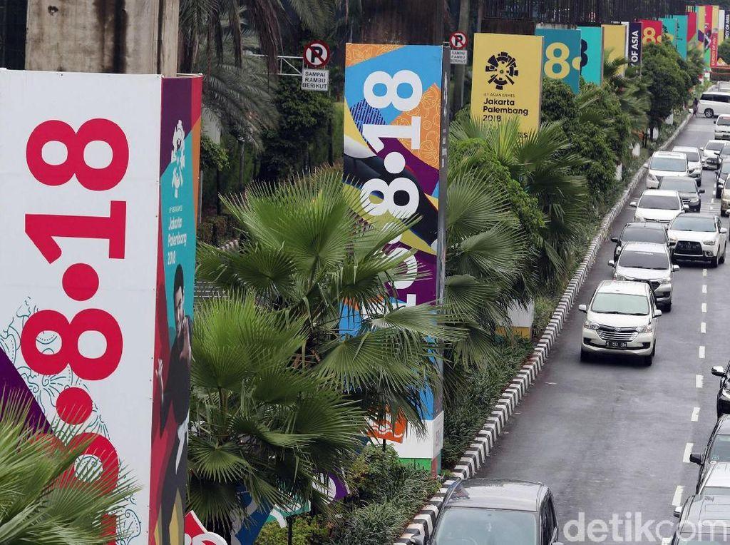 Kemeriahan Sambut Asian Games 2018 di Kawasan Senayan
